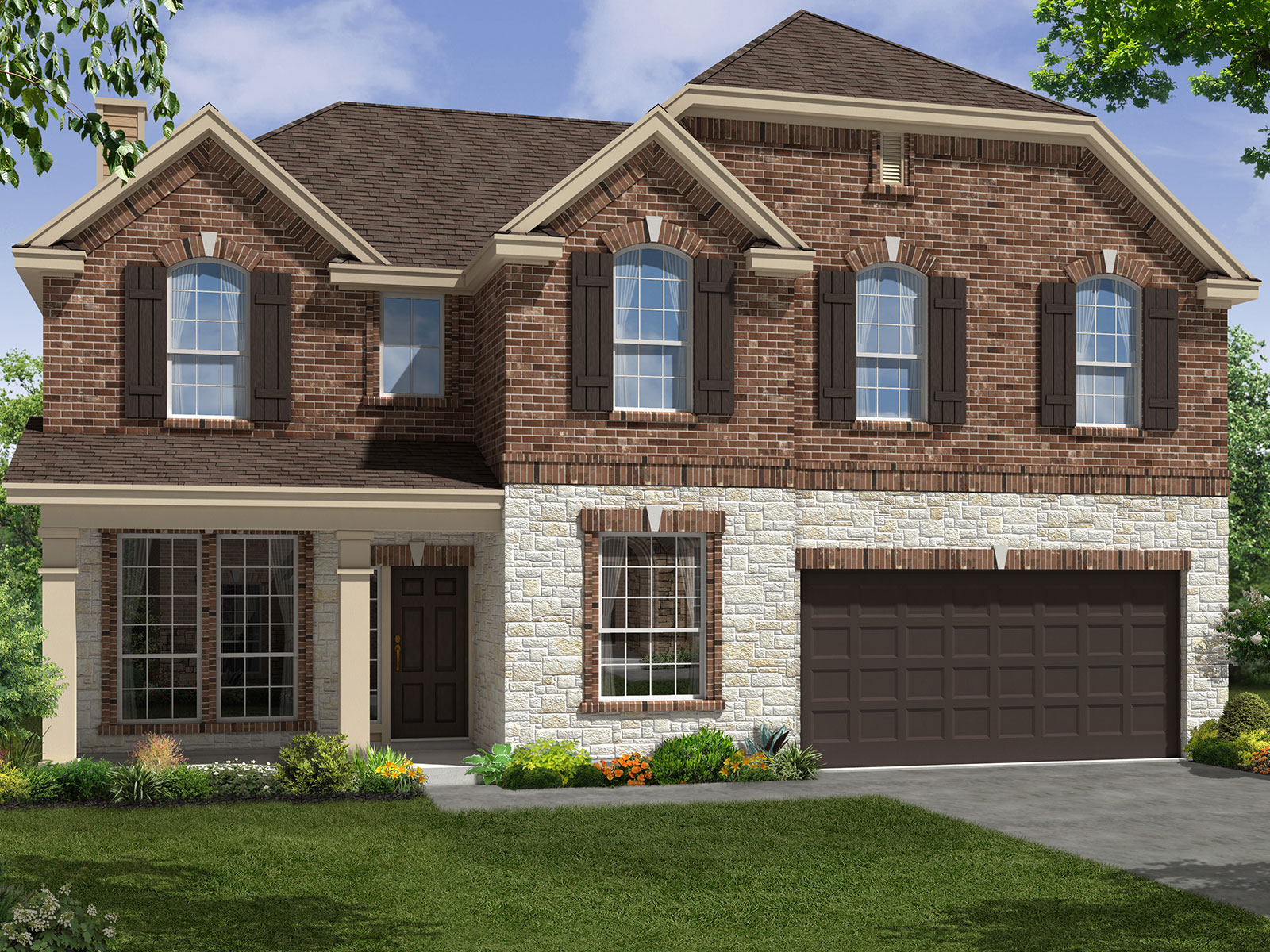 The windrose 5570 model 4br 3ba homes for sale in for Home elevation houston