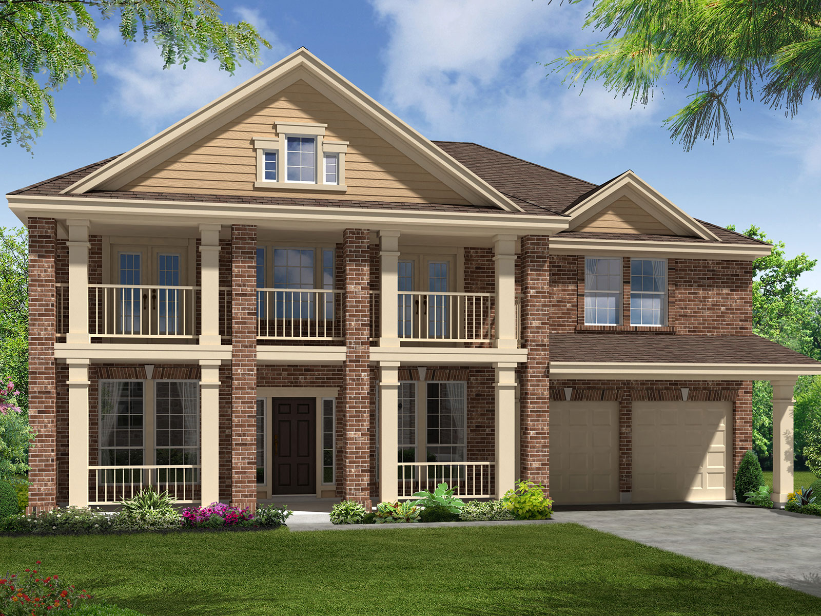 The austin 5844 model 5br 4ba homes for sale in for Home elevation houston