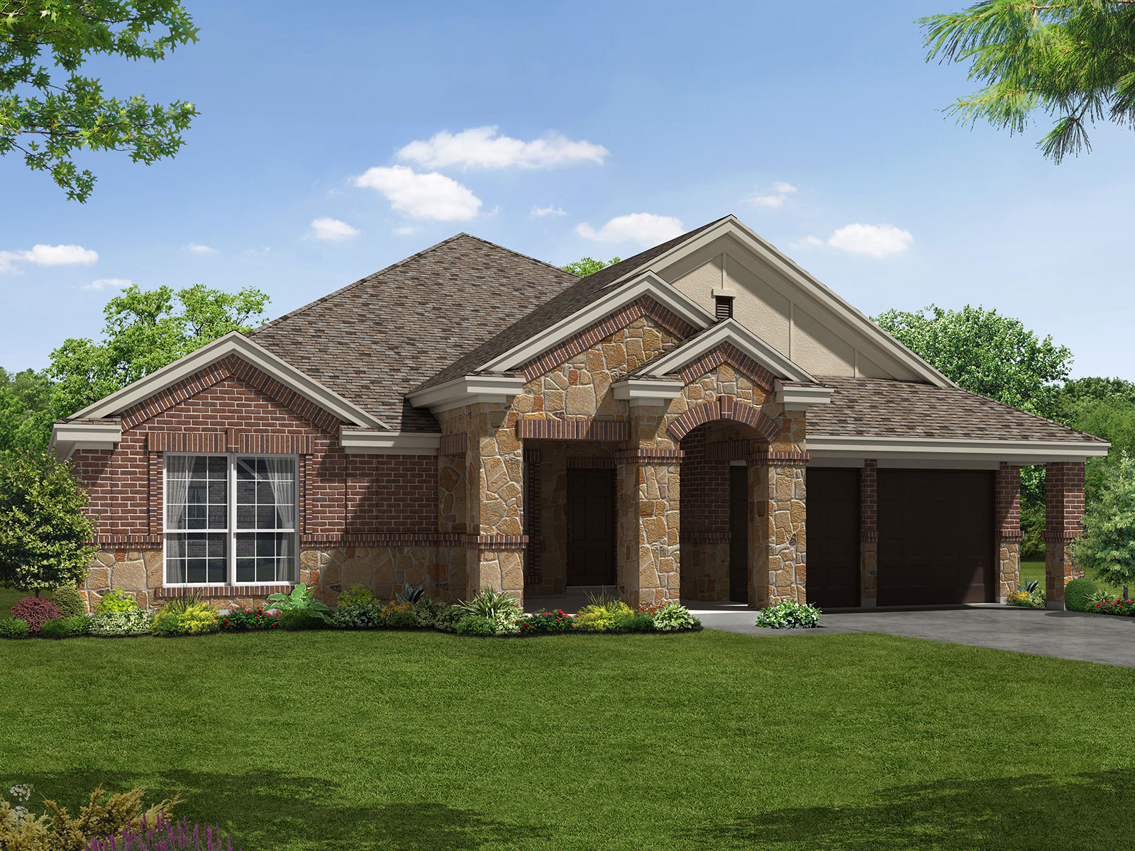 The devonshire 6891 model 4br 2ba homes for sale in for Houston house elevation