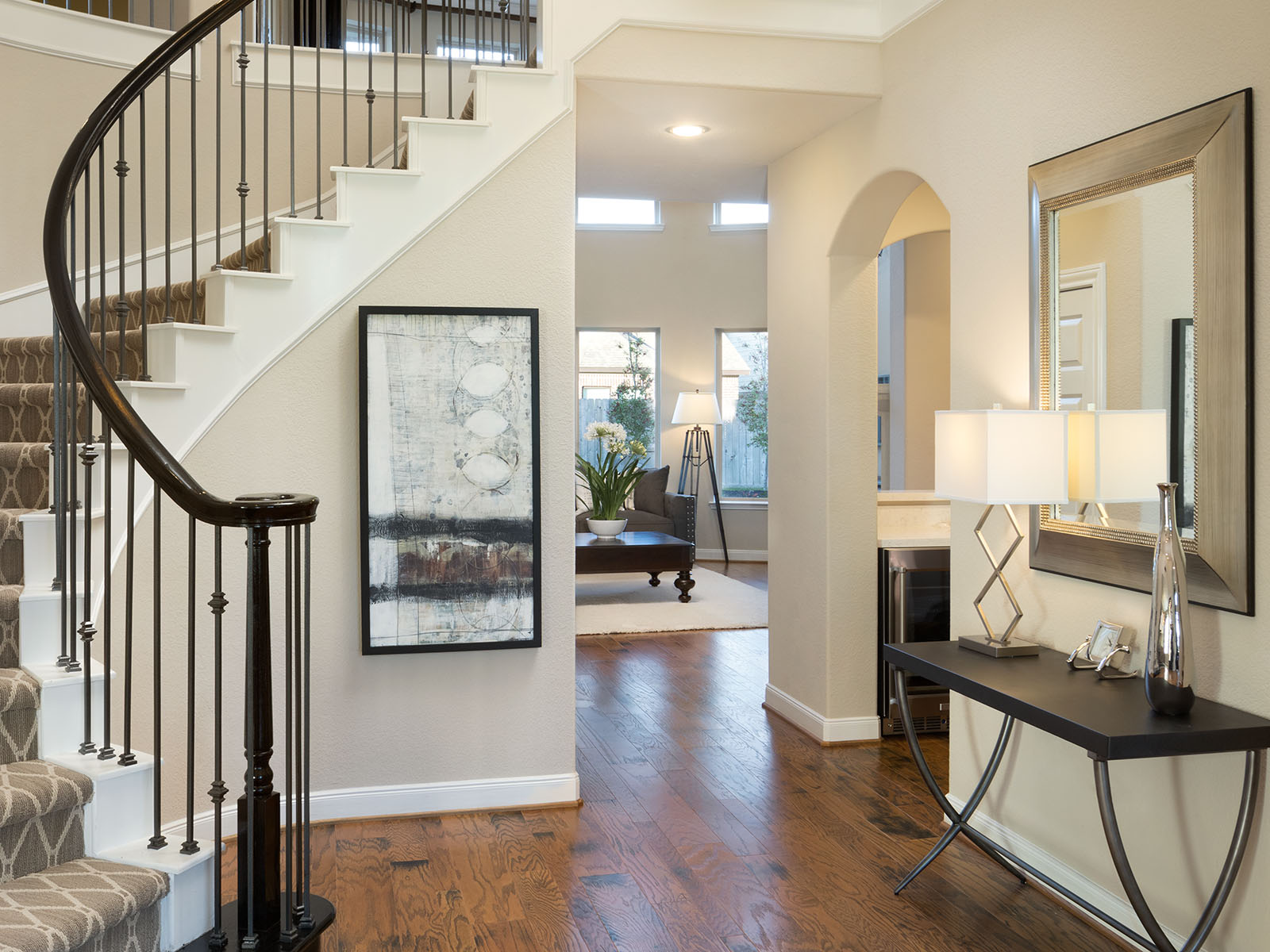 ... This Beautiful Foyer Will Wow Your Guests From The First Step Inside