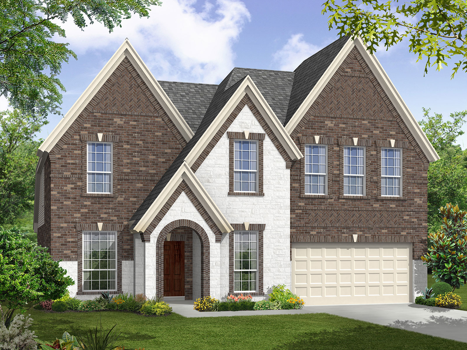 The windrose 5570 model 4br 3ba homes for sale in for Houston house elevation