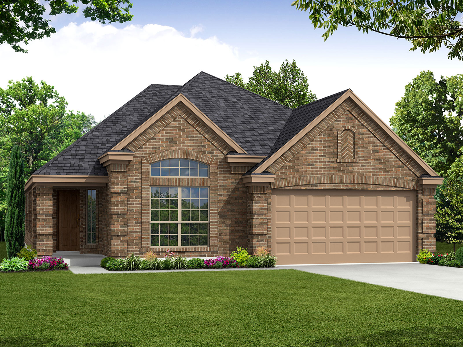 The shelley 3040 model 3br 2ba homes for sale in for Houston house elevation