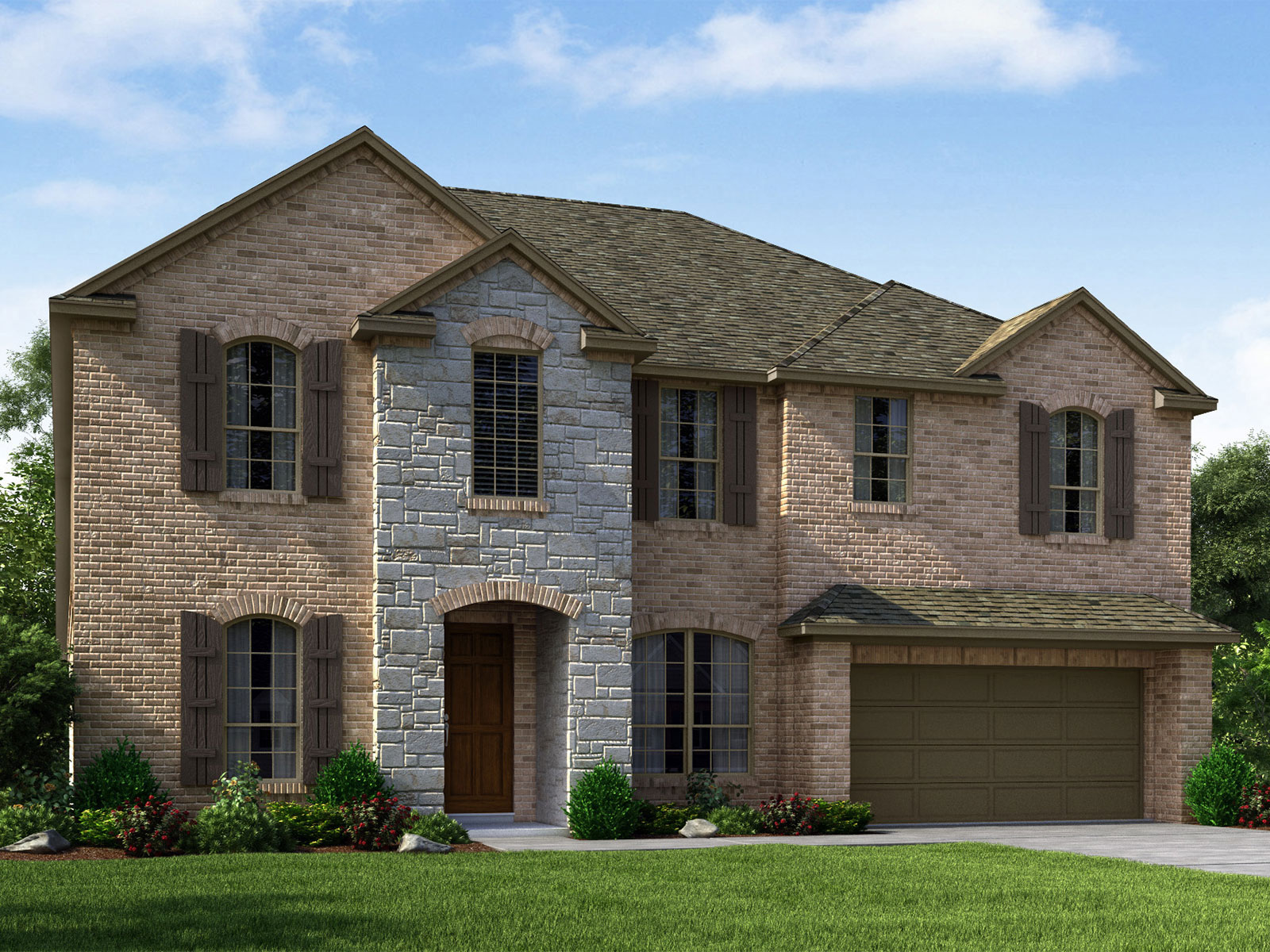The periwinkle 9400 model 4br 3ba homes for sale in for Houston house elevation
