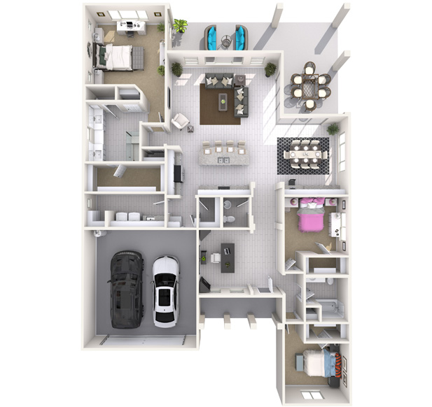Redding 3D Floorplan