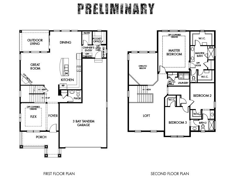 Home Builder Interactive Floor Plans: 3BR 3BA Homes For Sale In Aurora, CO