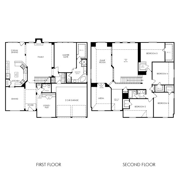 Meritage Homes Floor Plans   The Brazos 5821 Model 5br 4ba Homes For Sale In Tomball Tx