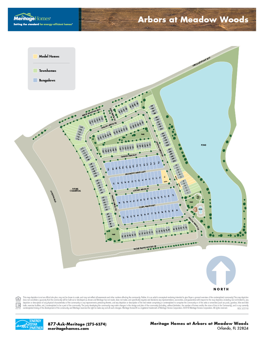 Arbors at Meadow Woods Site Plan