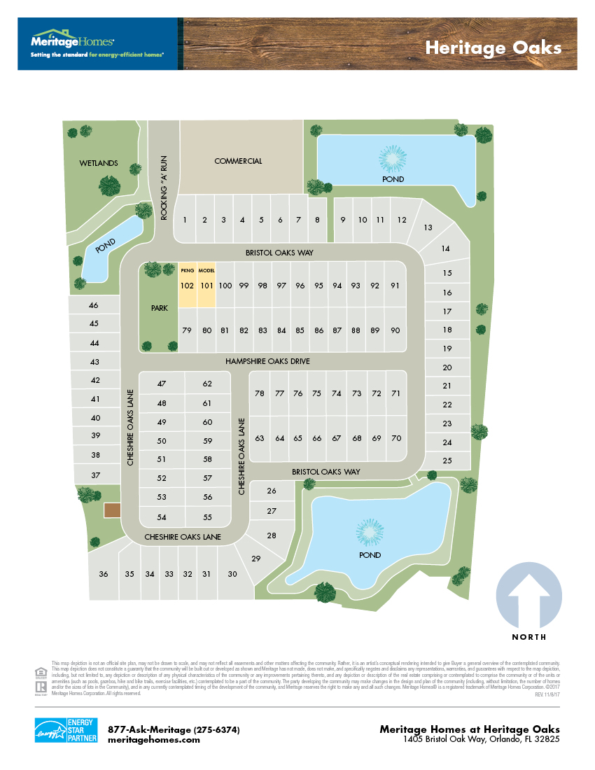 Heritage Oaks Community Map
