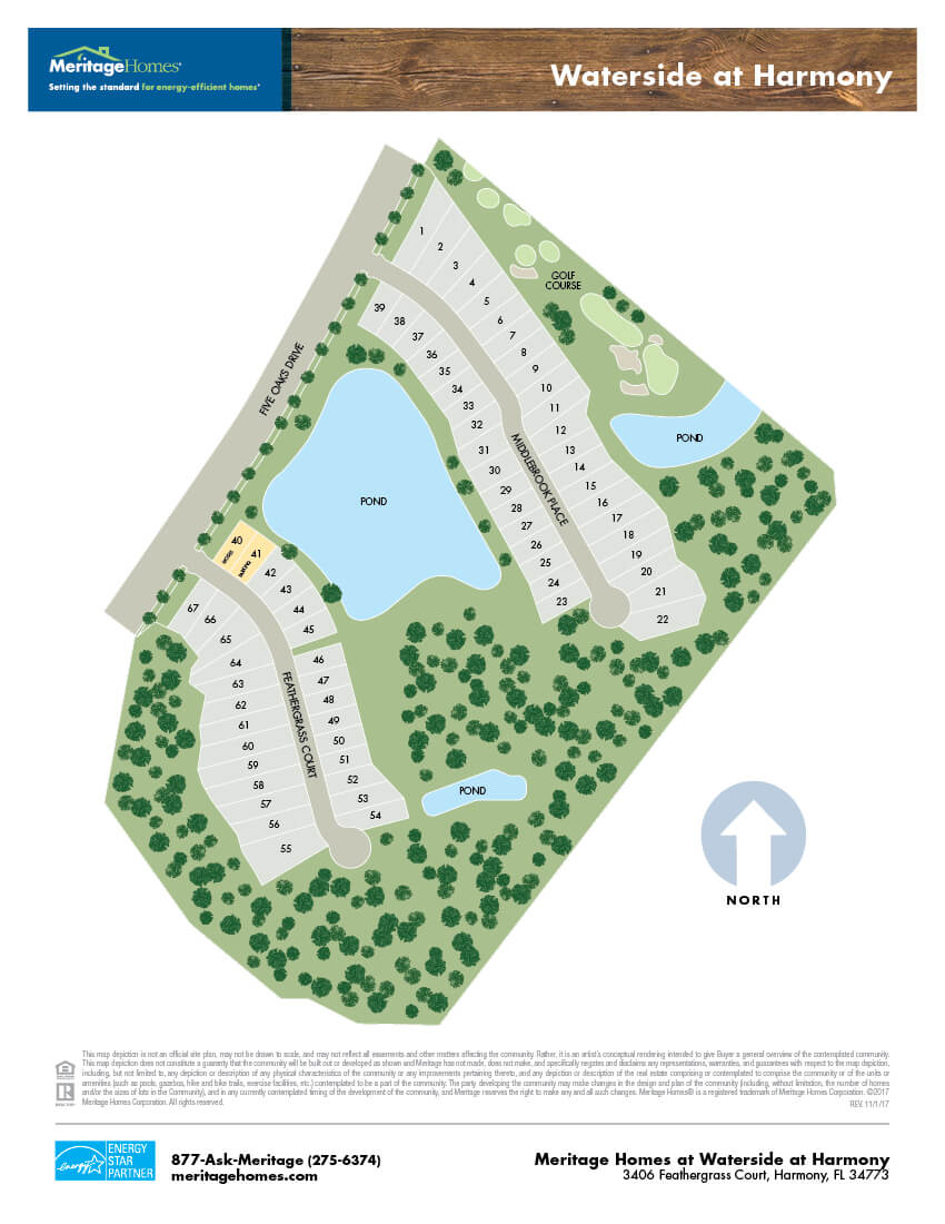 Waterside at Harmony Site Map