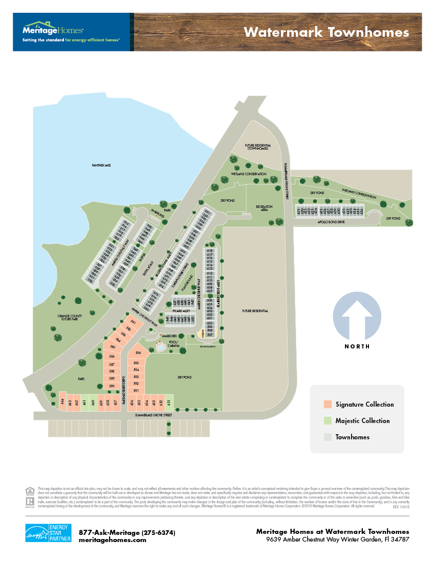 Watermark Townhomes site map