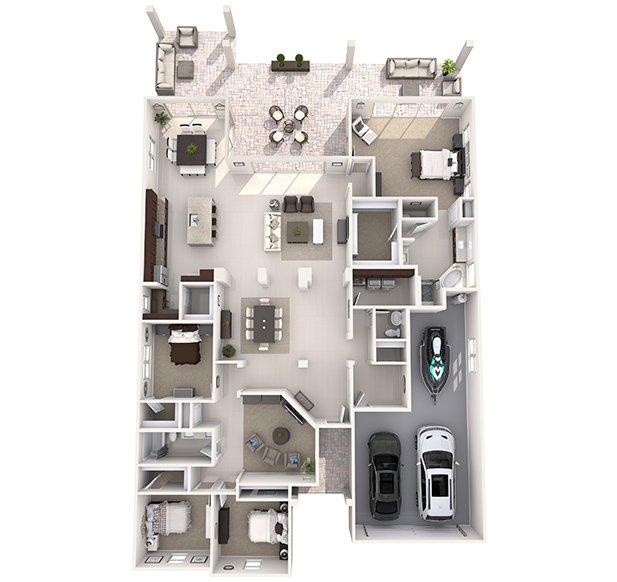 Shasta Plus 3D Floor Plan