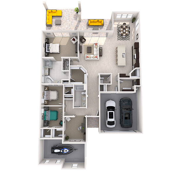 Broadmoor Plus 3D Floor Plan