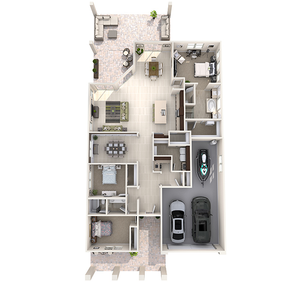 Eldorado Plus 3D Floor Plan