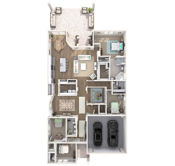Sierra Plus 3D Floor Plan