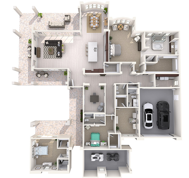 Vista 2 Plus 3D Floor Plan