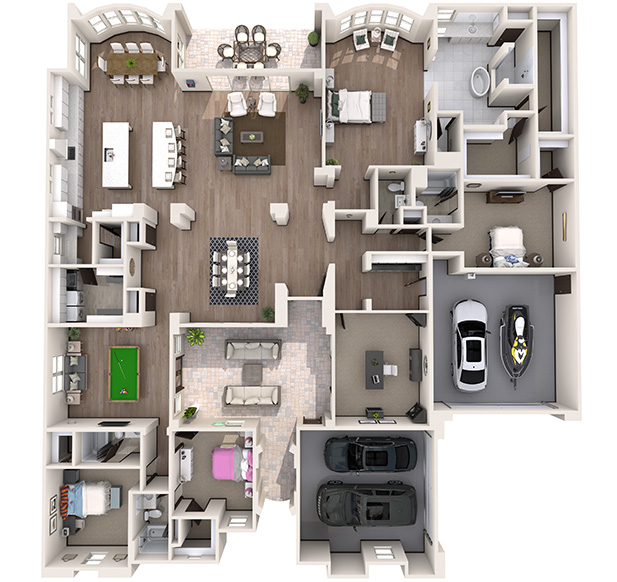Vista 4 3D Floor Plan