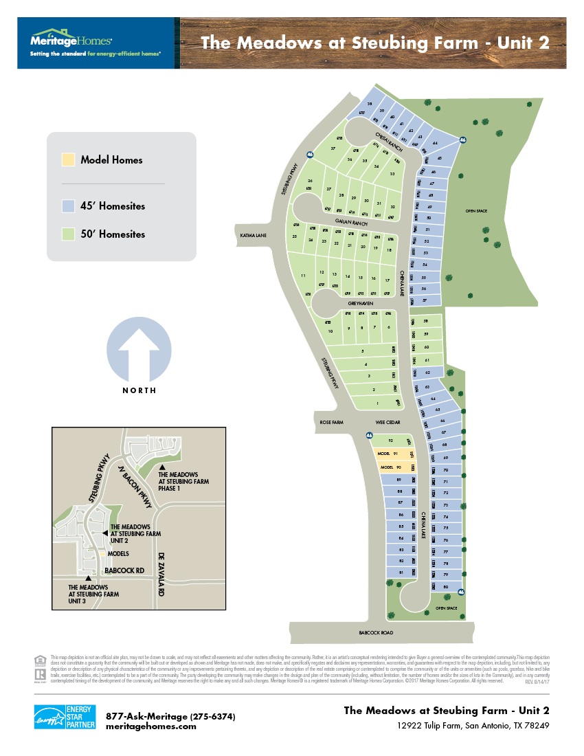 The Meadows at Steubing Farm Plot MaP