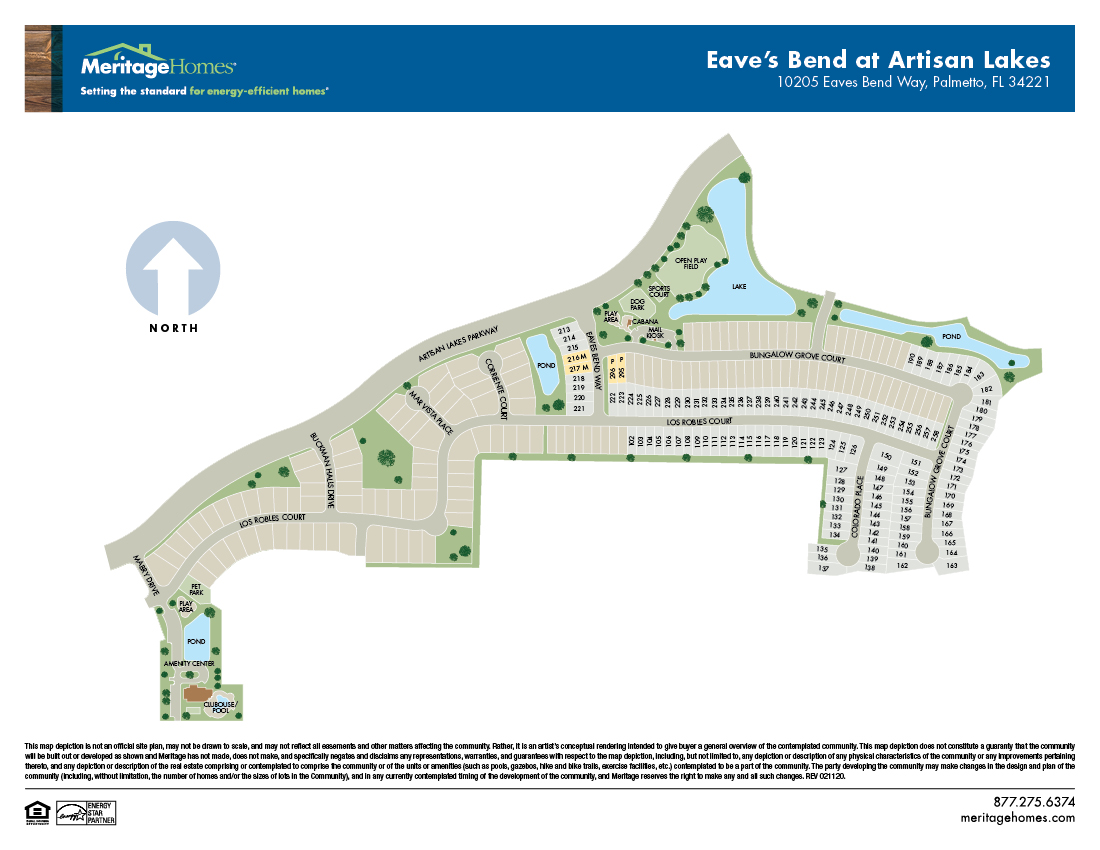 Eaves bend site map