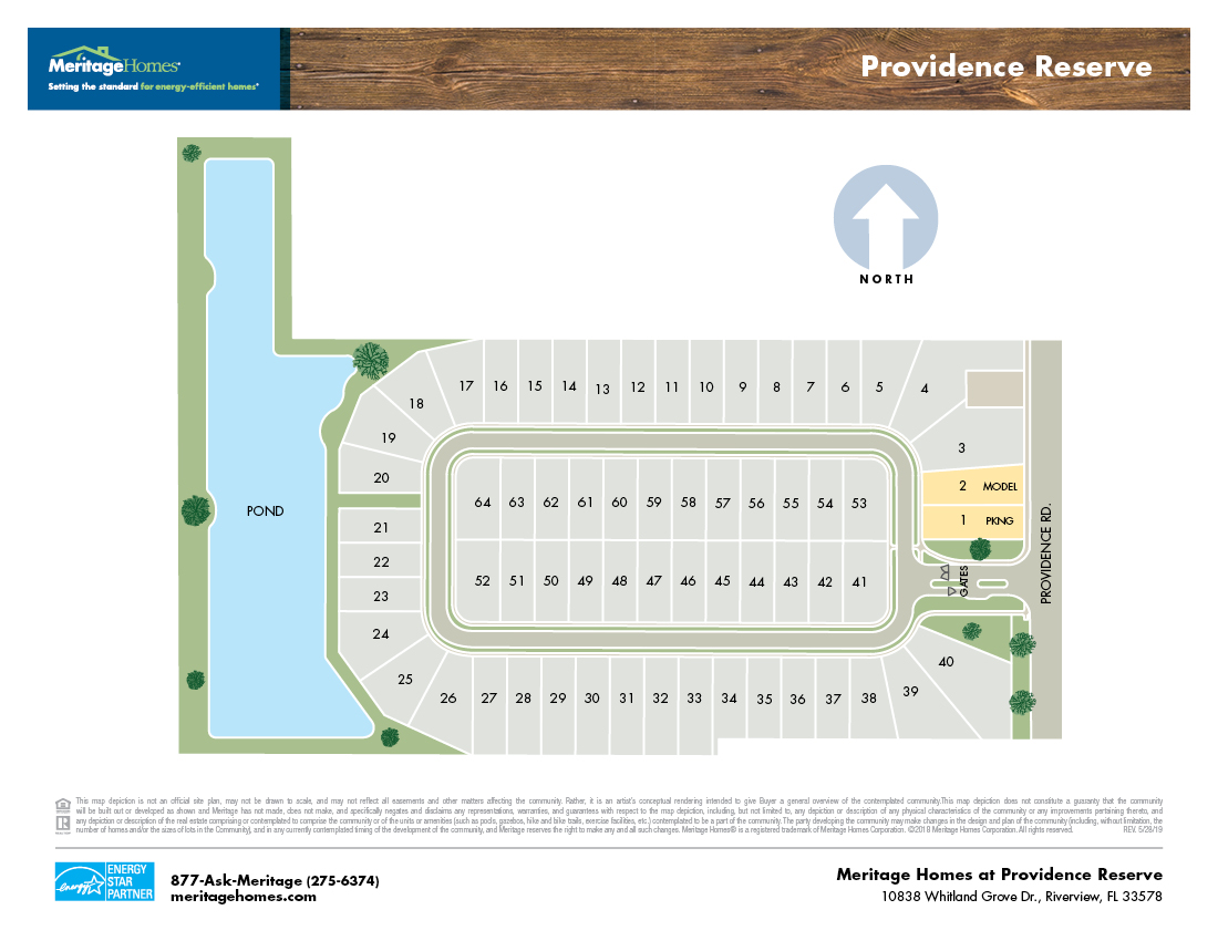 Providence Reserve Site Map
