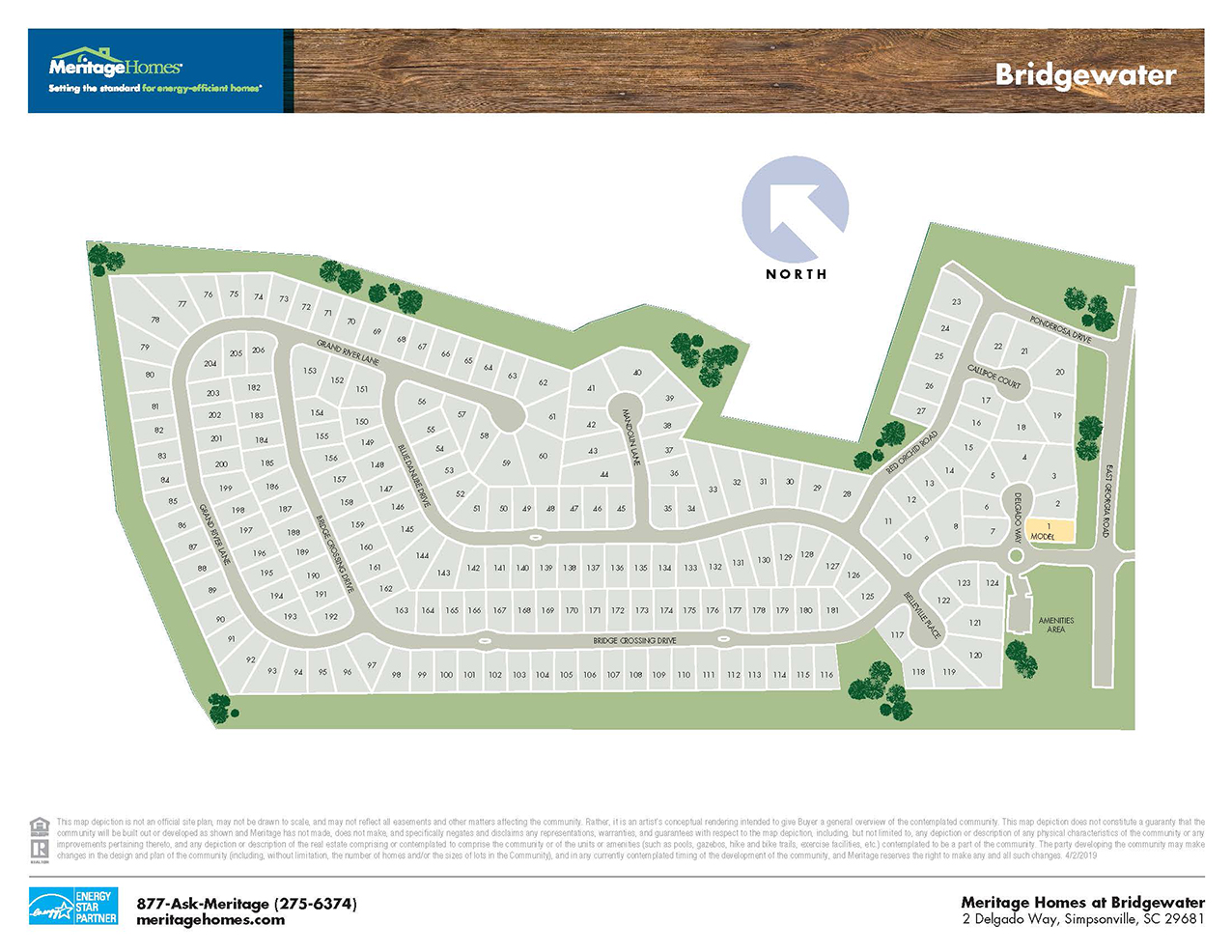 Bridgewater site map