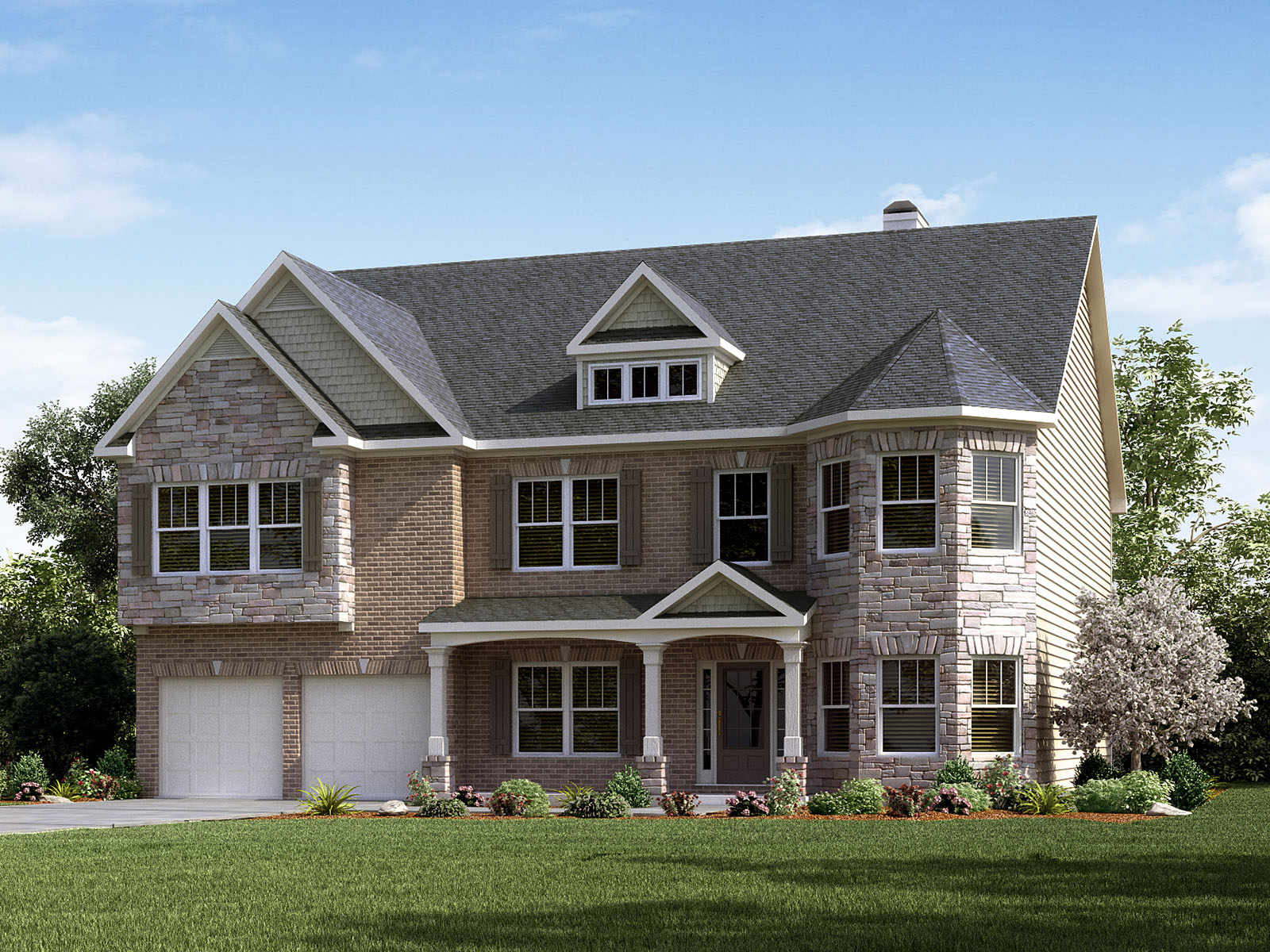 The Parkside Boasts A Breathtaking Two Story Family Room