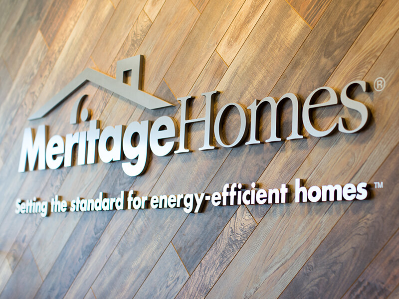 Meritage Homes office sign