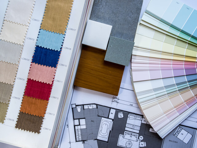 Various paint and trim samples