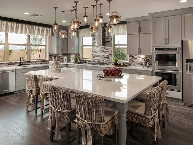 Kitchen with granite dining table