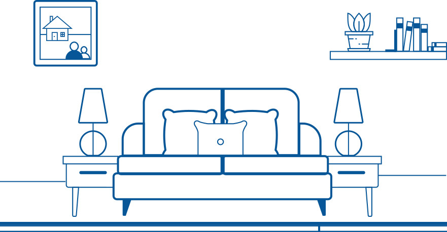 Infographic couch