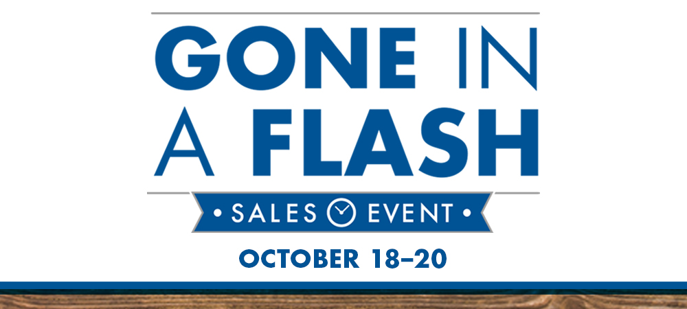 Gone in A Flash National Sales Event