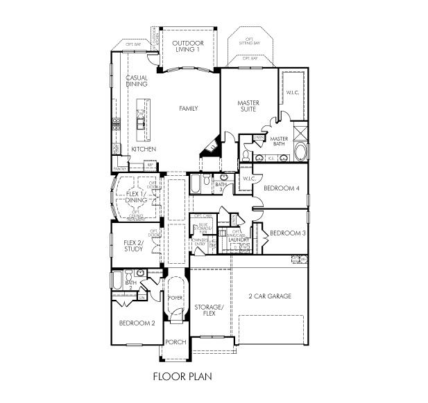 Meritage Homes Floor Plans | The Waterleaf Model 4br 3ba Homes For Sale In Bee Cave Tx