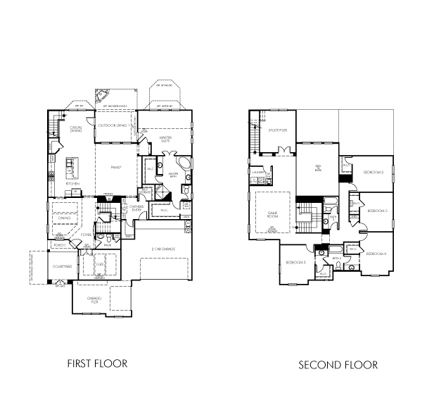The jasmine model 5br 4ba homes for sale in bee cave tx for 5br house plans