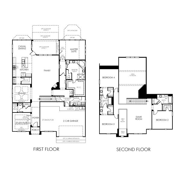 Meritage Homes Floor Plans | The Redbud 5362 Model 4br 4ba Homes For Sale In Sugar Land Tx