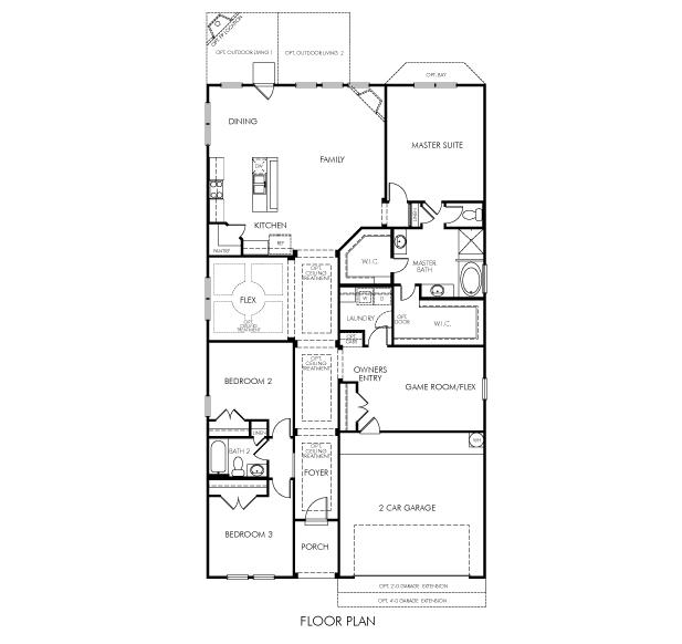 Meritage Homes Floor Plans   The Elderberry 4223 Model 3br 2ba Homes For Sale In Spring Tx