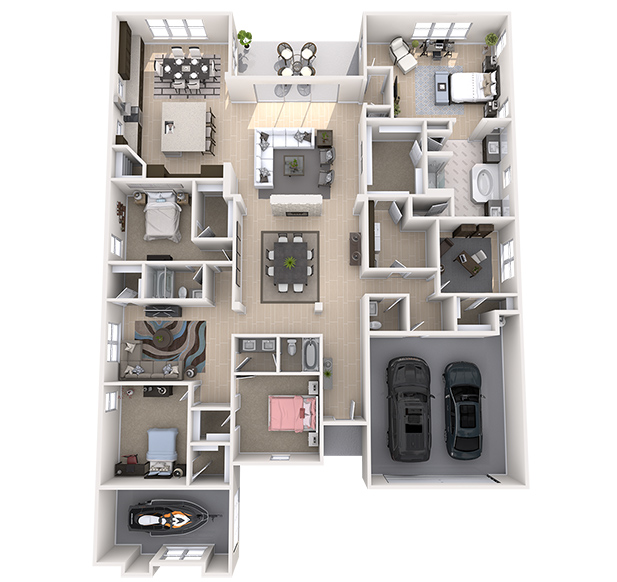 Madison 3D Floor Plan