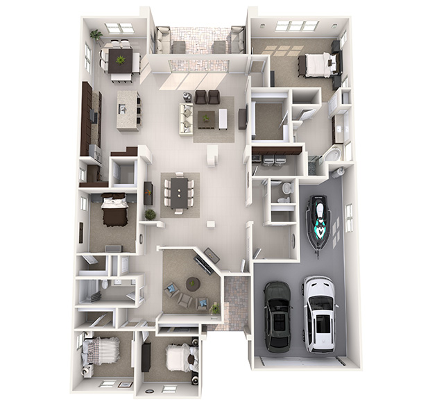 Shasta 3D Floor Plan
