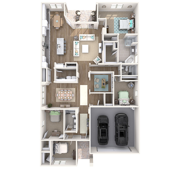 Sierra 3D Floor Plan