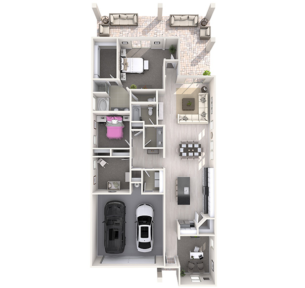 Bacall Plus 3D Floor Plan