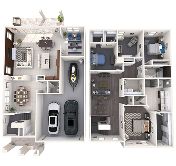 Hitchcock 3D Floor Plan