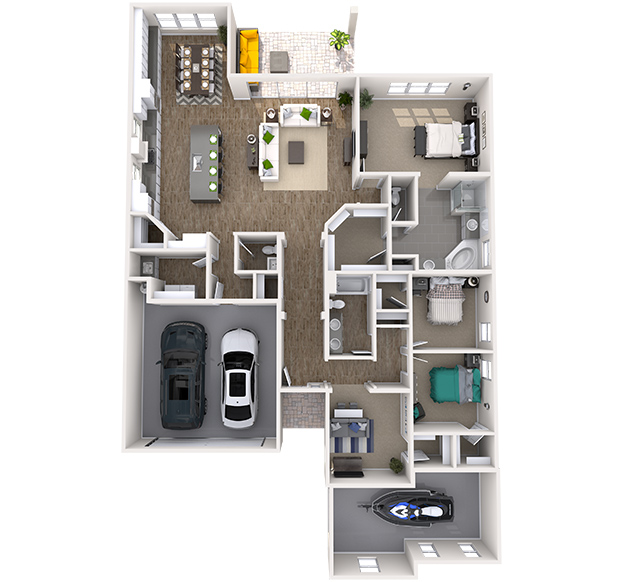 Broadmoor 3D Floor Plan