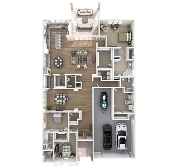 Sawgrass 3D Floor Plan