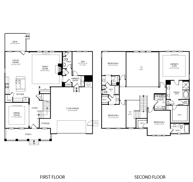 The Madison II floorplan is 3,190 square feet with 4 bedrooms and 3-1/2 baths.