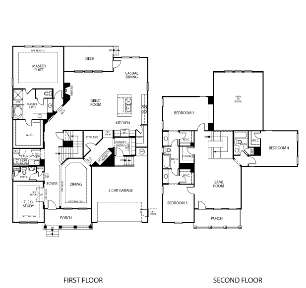 The Franklin II floorplan is 3,655 square feet with 4 bedrooms and 3-1/2 baths.